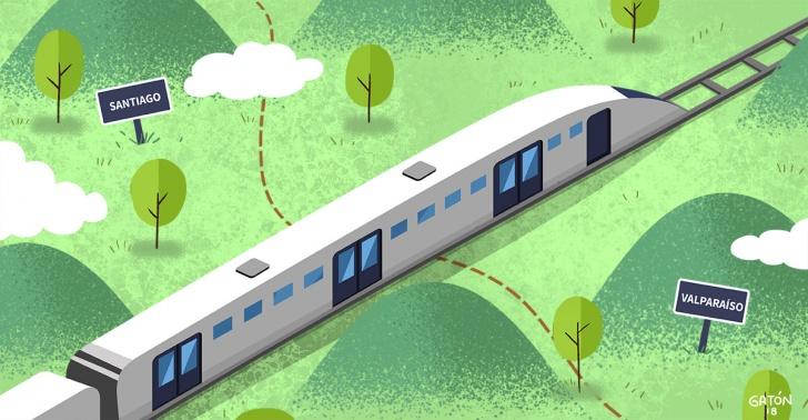 tren, santiago, valparaíso, proyecto, inversión, rápido, viabilidad.
