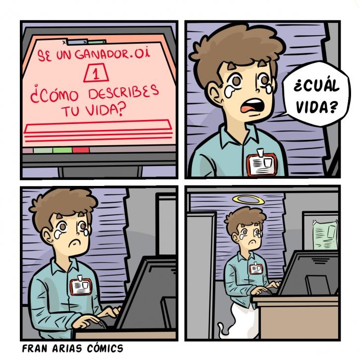 Vida, fantasma, oficina, oficinista, ganador, perdedor.