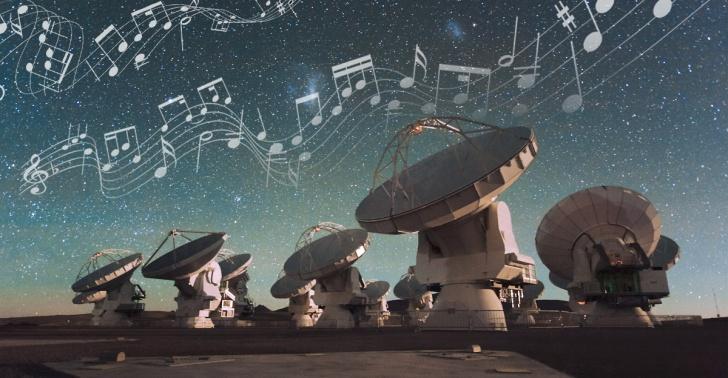 ALMA, sonidos, música, observatorio, astronomía, melodías, Chile.