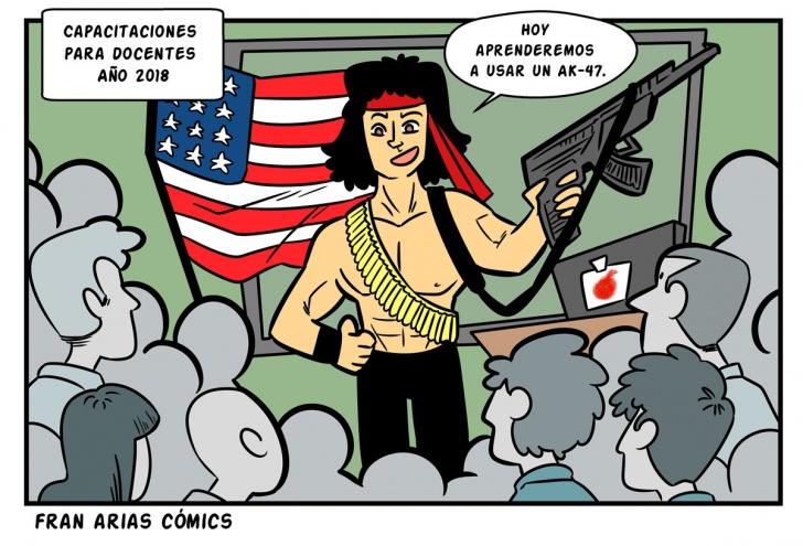 EEUU, armas, política de control de armas, profesores, escuelas.