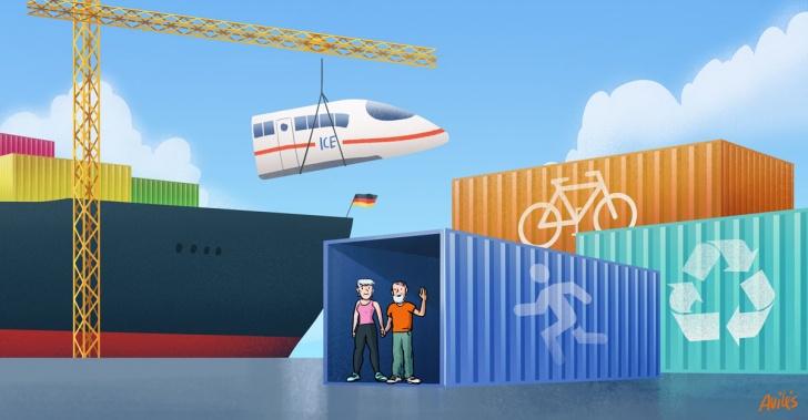 países, cultura, alemania, chile, trenes, regionalismo, reciclar