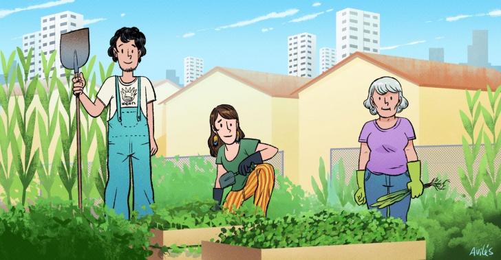 Santiago, huertos urbanos, sustentabilidad, medioambiente, vecinos