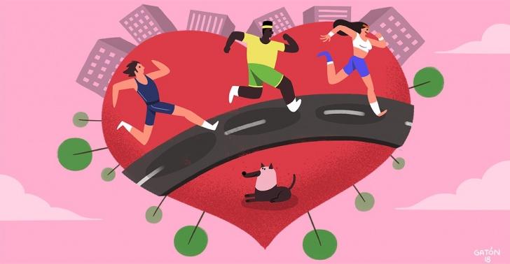 maratón, maratón de santiago, santiago, santiagoadicto, ciudad emergente, okuplaza, malón urbano