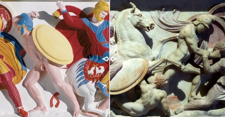 arte, arquitectura, historia, escultura, griegos, romanos, edad media, color