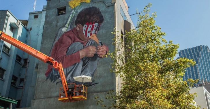 festival urbano, arte, muralistas, ciudad, santiago, barrio