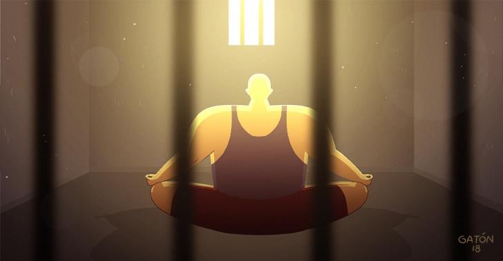 meditación, india, cárcel, reinserción,