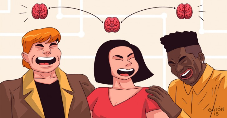 amigos, cerebro,, amistad, relación, ciencia.