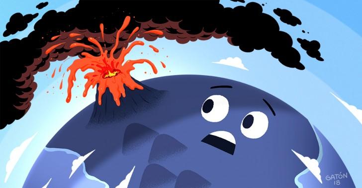 volcanes, erupciones, catástrofe natural, vei, yellowstone, thera, changbaishan, tambora, krakatoa, santa maría, novarupta, pinatubo, guatemala, hawaii, volcán de fuego, volcán kilauea