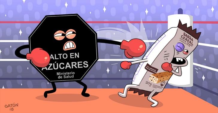 ley de etiquetado, ley 20.606, vida saludable, azúcares, grasas saturadas, sodio, calorías, sellos negros, disco pare, obesidad, salud