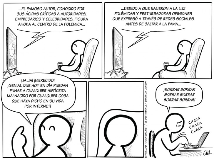 internet, tuits, Twitter, tweets, machismo, Baradit, Ortega, frases, pasado, funas, famosos, celebridades, hipocresía, sexismo