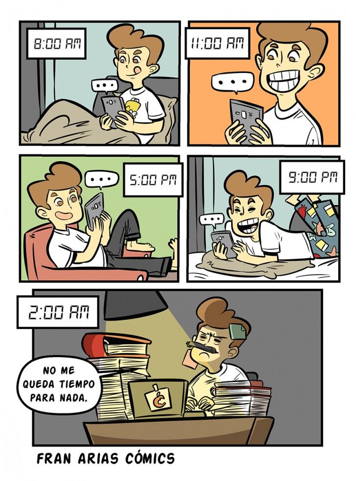 Tiempo, tecnología, millenials, celular, trabajo.