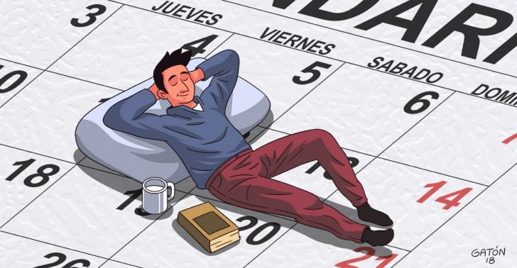 trabajo, jornada, semana, productividad, estrés.