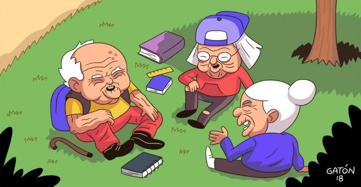 adultos mayores, educación, universidad, china