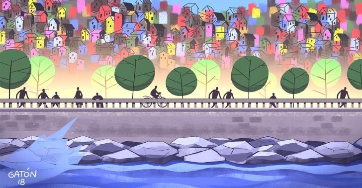 valparaíso, puerto, mall barón, paseo del mar, borde costero, áreas verdes, parque, regeneración urbana, urbanismo