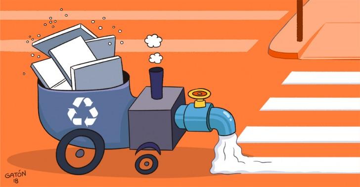 pintura, poliestireno, plumavit, reciclaje, residuos