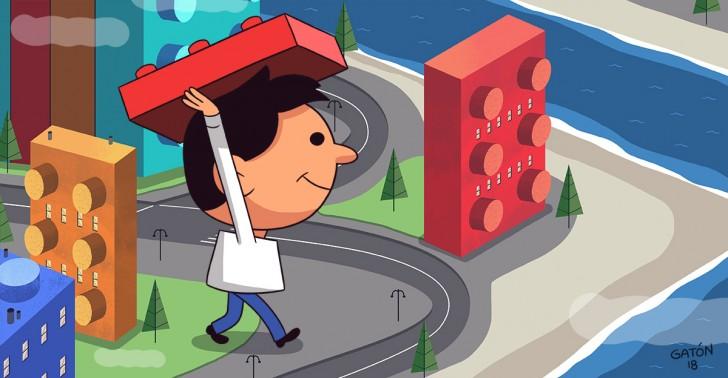 ciudad, espacios públicos, lego, peatones, sidewalk labs, toronto