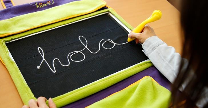 accesibilidad, ceguera, dibujo, discapacidad visual, escritura, inclusión, küwü, lápiz, niños