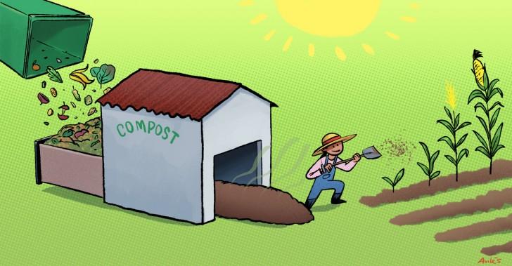 compost, talca, residuos orgánicos, chile, canadá, medioambiente, basura, efecto invernadero