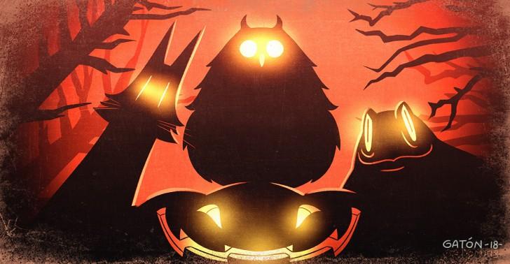 halloween, brujas, buhos, gatos negros, sapos, mitos, leyendas, terror