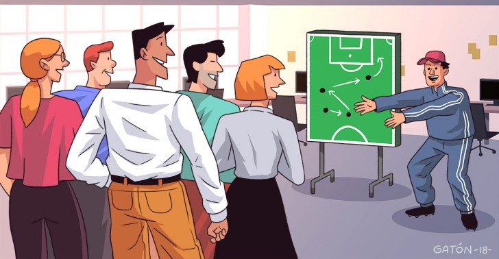 trabajo, jefe, líder, equipo, deportes, gerencia, comunicación