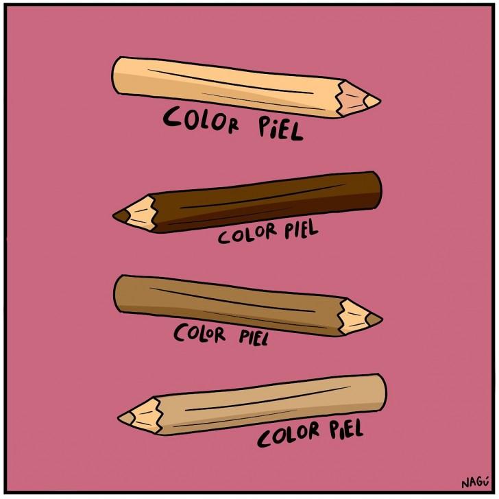 lapices color piel niños amigos raza