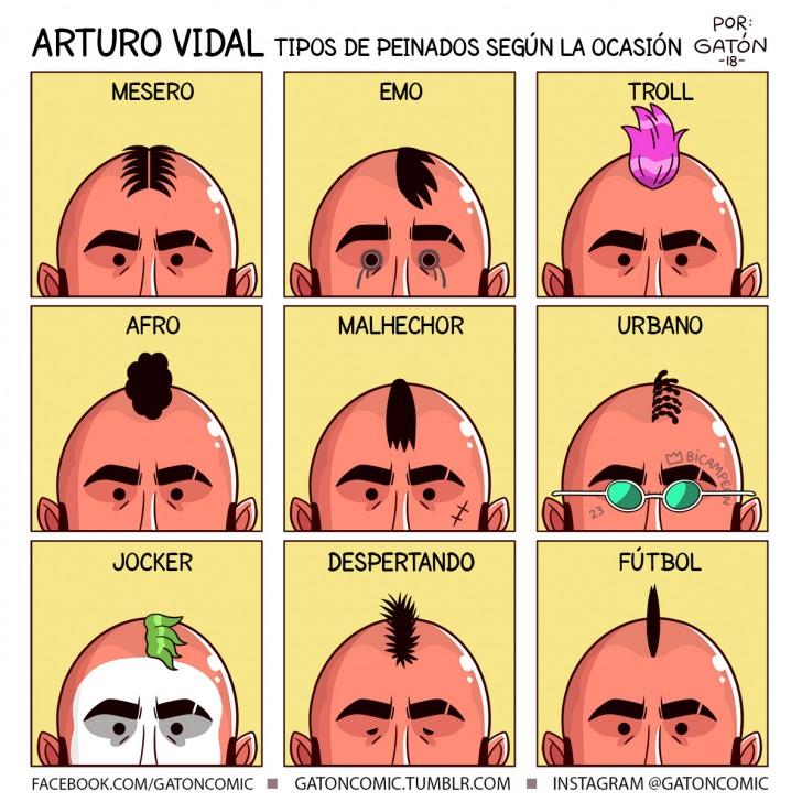 arturo vidal, vidal, king, rey arturo, fútbol, soccer, peinado, moda, pelo, pelos, mohicano