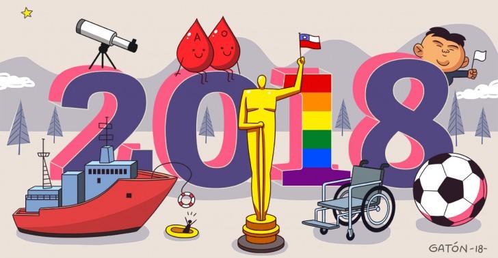 2018, noticias, resumen, chile, mundo, inclusión, leyes, ciencia, deportes
