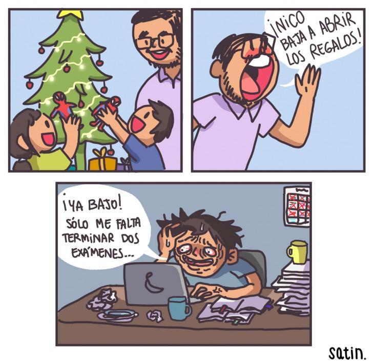 navidad, regalos, familia, estudiar, universidad, fin de año