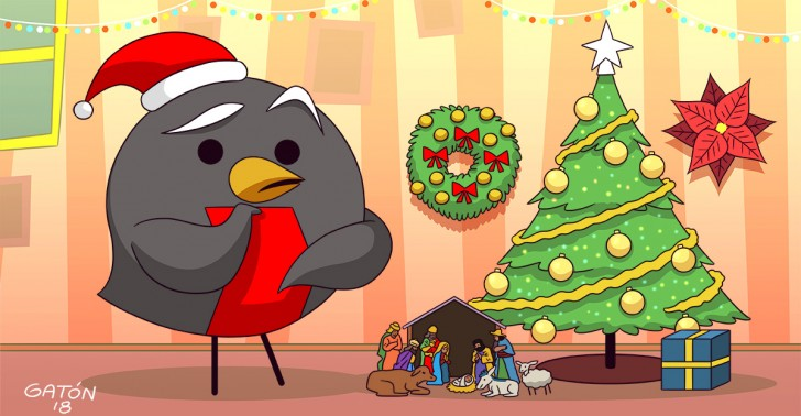 árbol, coronas, navidad, pesebre