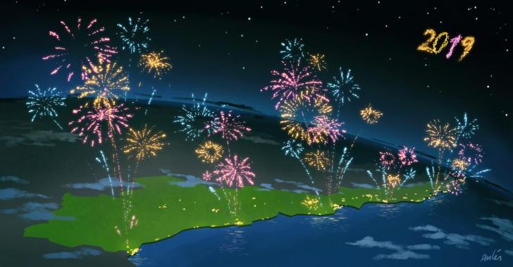 Guia De Fuegos Artificiales Para Recibir El Ano Nuevo En Diferentes
