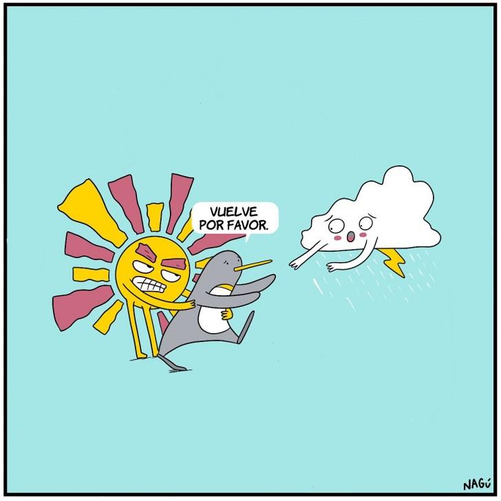 verano invierno clima sol calor