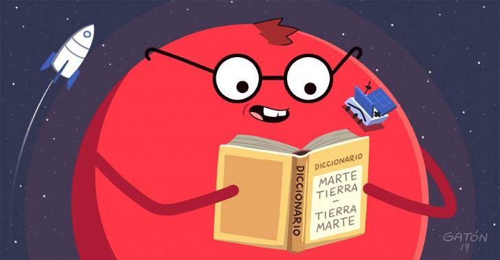 marte, diccionario, marciano, palabras