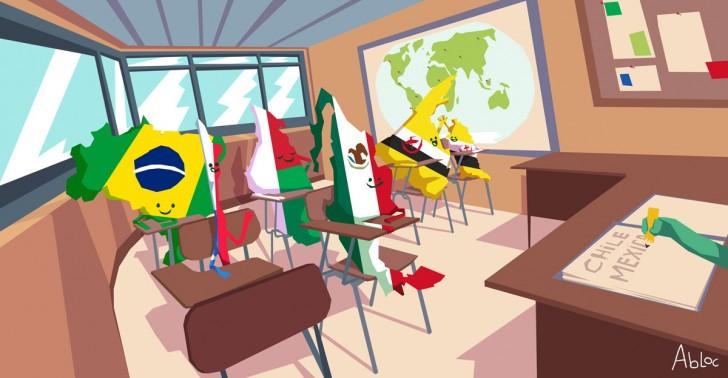 países, lenguas, brunéi, madagascar, brasil, chile, méxico