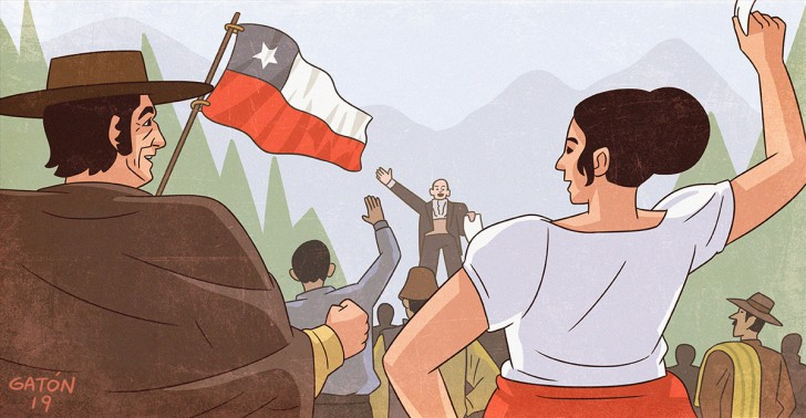chile, independencia, 12 de febrero, 1818,