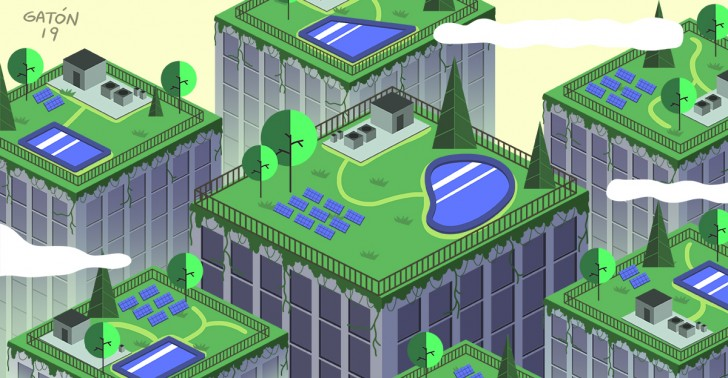 azoteas, le corbusier, minvu, oguc, techos verdes, quinta fachada