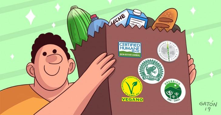 sellos, ecosellos, sustentabilidad, sag, veganismo, alimentacion, medioambiente, huevos