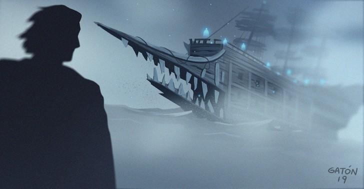 barcos fantasma, océano, naufragio, barcos, misterio