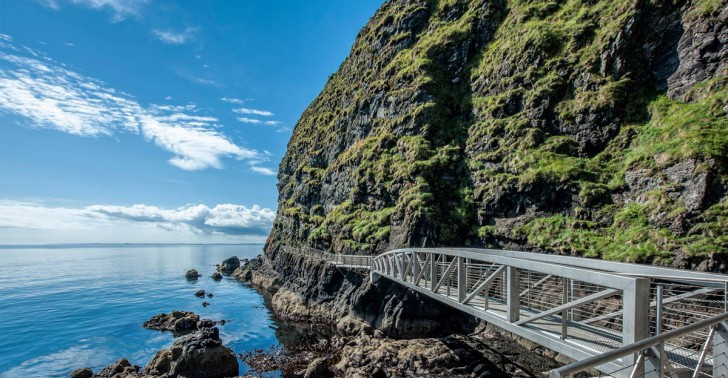 The Gobbins, Irlanda, acantilados, mar, ruta, Europa, trekking