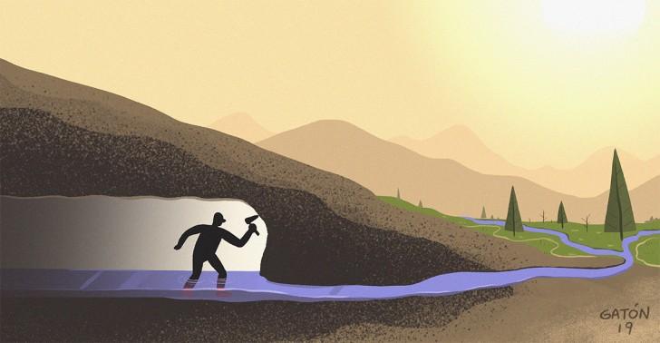 qanat, agua, persia, tunel, iran, sequia, desierto, ingenieria, cultivo, medioambiente