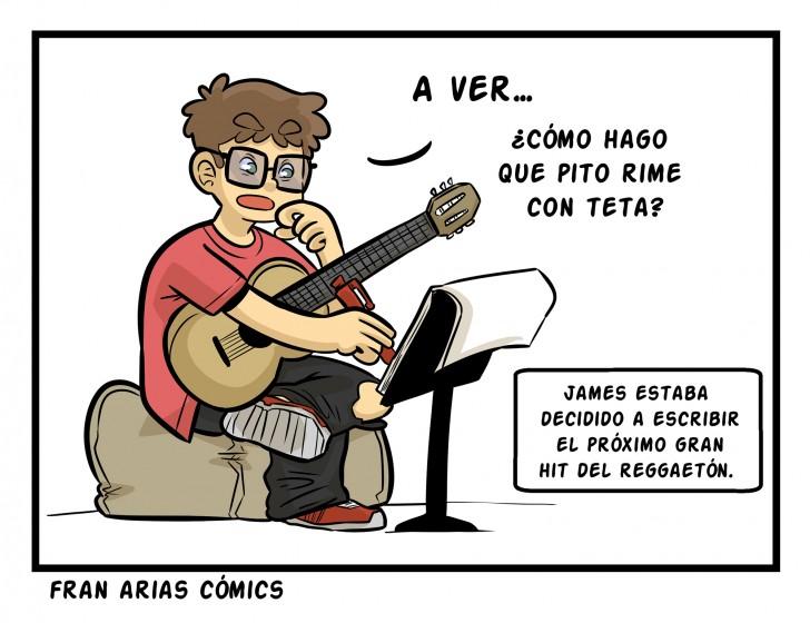 Reggaetón, música, pito, tetas, escribir.