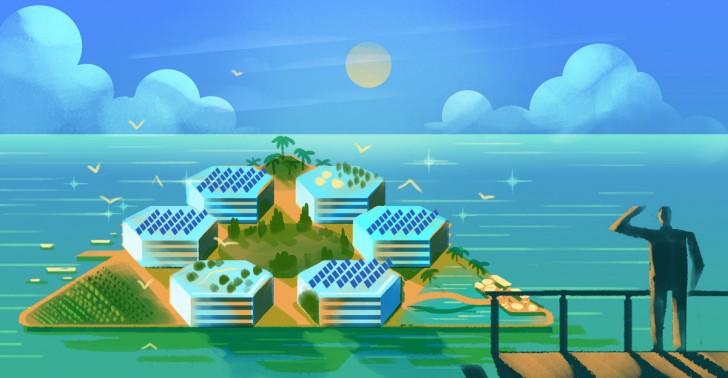 medioambiente, ciudad flotante, autosustentable, oceanix city, onu hábitat, cambio climático