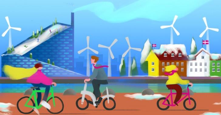 dinamarca, copenhague, cambio climático, energías renovables, carbono neutral