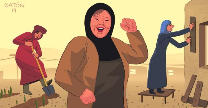 jinwar, estado islámico, guerra, mujeres, aldea, sustentabilidad, siria
