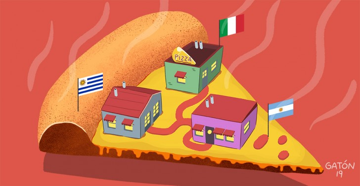 Gastronomía, Pizza, Santiago, Historia, Ruta, Uruguay, Italia, Argentina