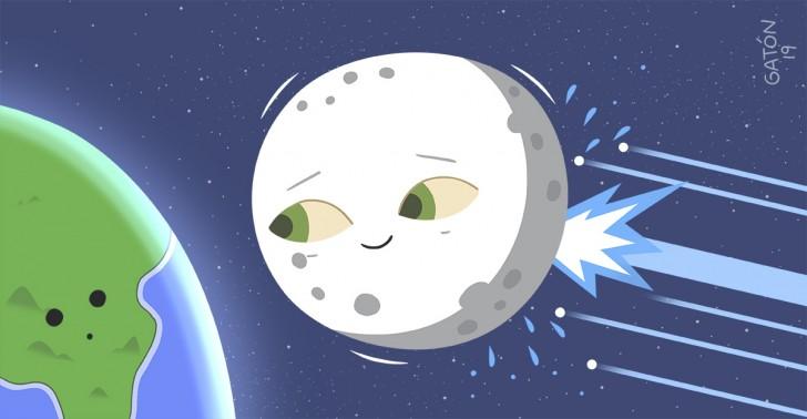 luna, agua, astronomía, meteoritos