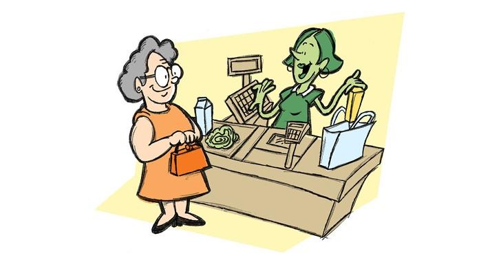adulto mayor, tercera edad, soledad, supermercados