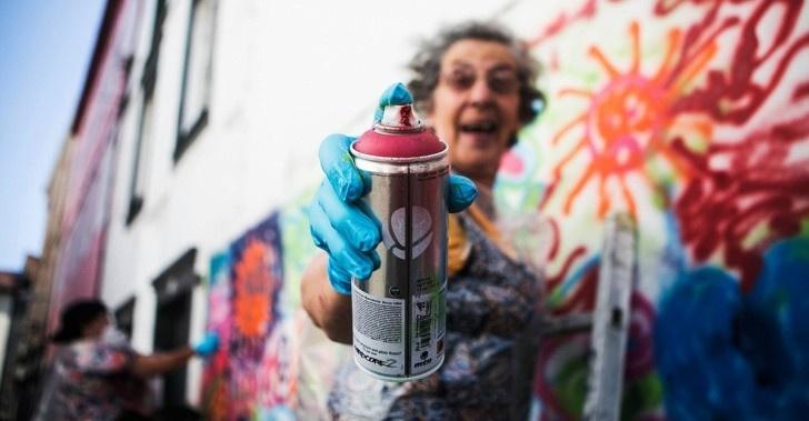 ancianos, graffiti, vejez, murales, muralismo, pintura, arte, tercera edad, abuelos, inclusión, ancianos